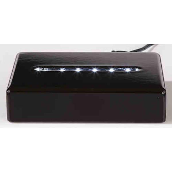 Black rectangle lighted base