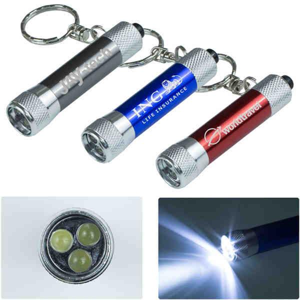 Aluminum keychain-style flashlight with
