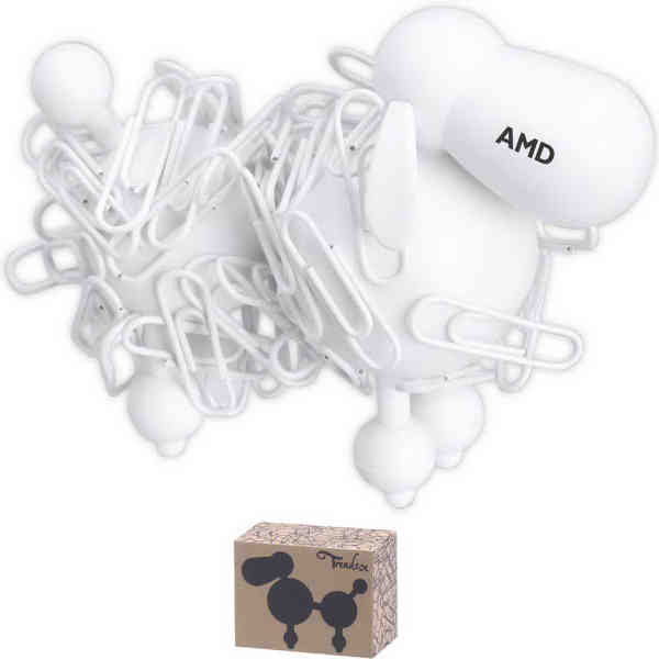 Poodle shaped paperclip holder.
