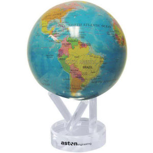 A world globe that