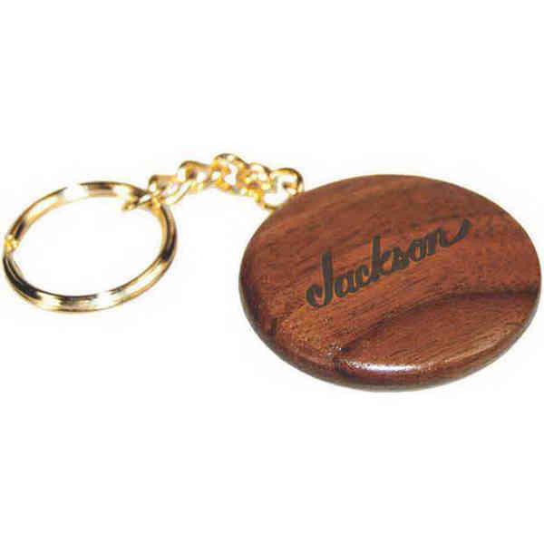 Round wooden keychain, rosewood.