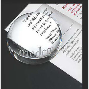 Crystal dome magnifier and