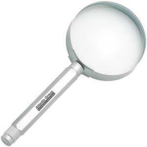 Metal magnifier.