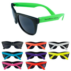 Fun sunglasses with neon