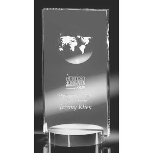 Optical crystal award.