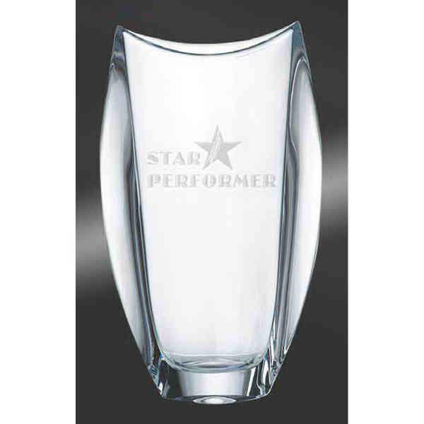Optical crystal vase.