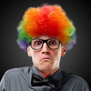 Rainbow clown Costume wig,