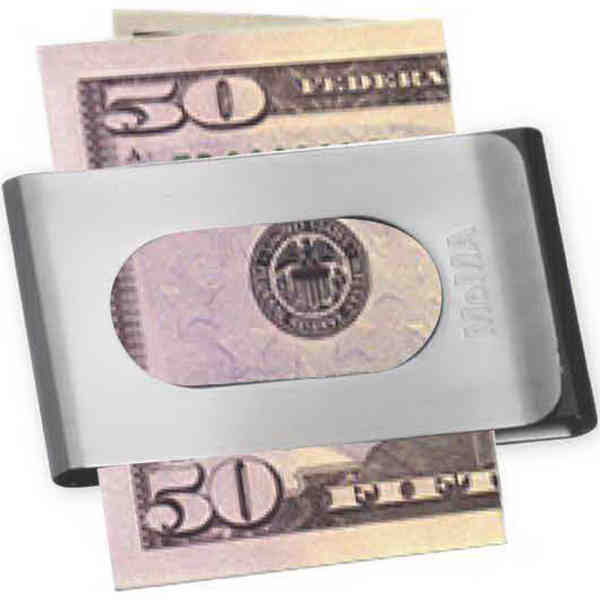 Money clip holds cash