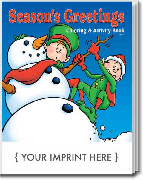 Season's Greeting holiday coloring