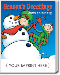 Season's Greeting holiday coloring