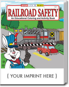 Railroad Safety educational coloring
