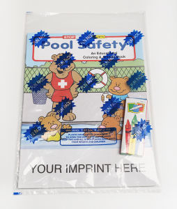 Pool Safety educational coloring