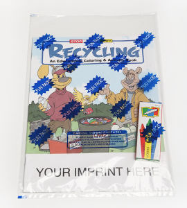 Recycling coloring and activity