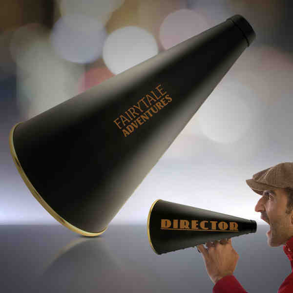 13: movie director's megaphone