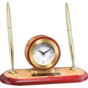 High gloss burlwood clock