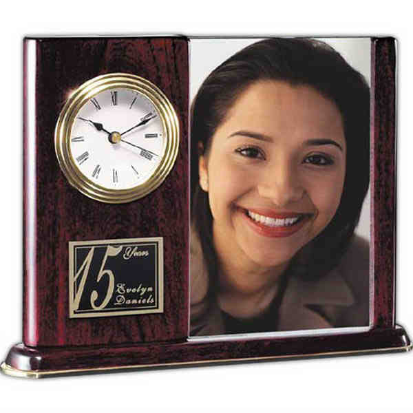 Rosewood gold clock with