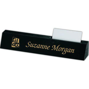 Genuine black marble nameplate