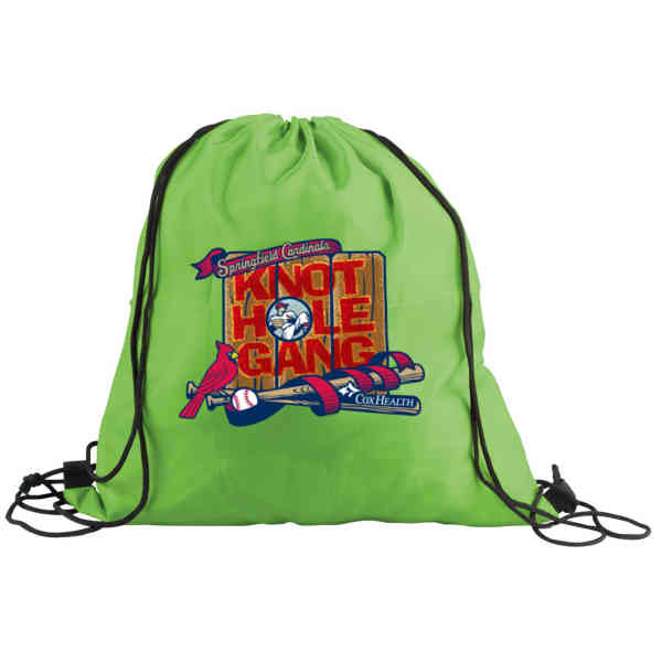 Drawstring Backpack with Digital