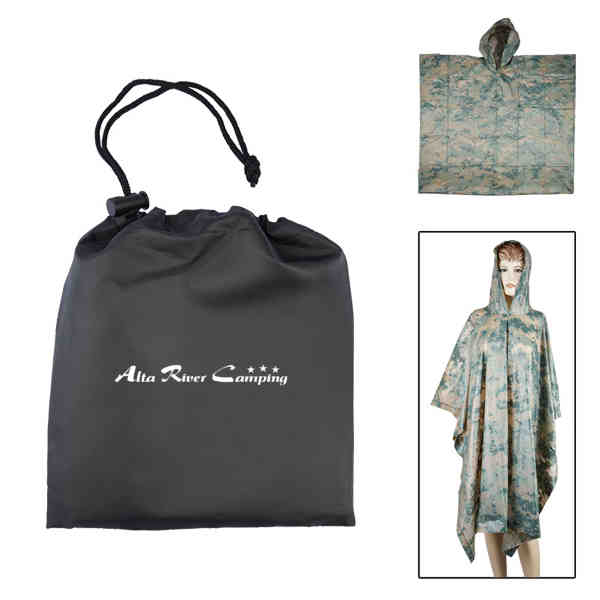 Digital Camo Poncho in