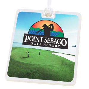 Golf tag, digital imprint.