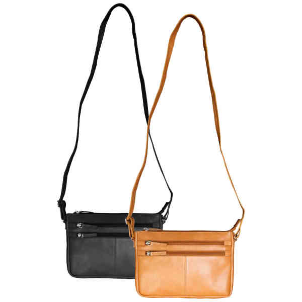 Leather bag with adjustable