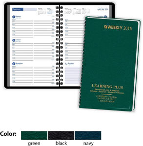 Planner with a ruled