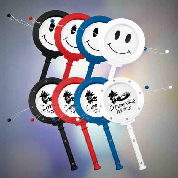 Plastic drum noisemaker with
