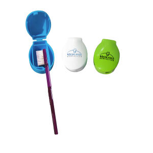 Toothbrush travel holder. Adheres