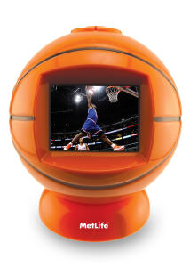 Basketball shaped desktop video