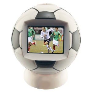 Soccer ball shaped desktop