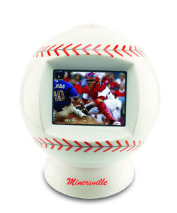 Baseball shaped desktop video