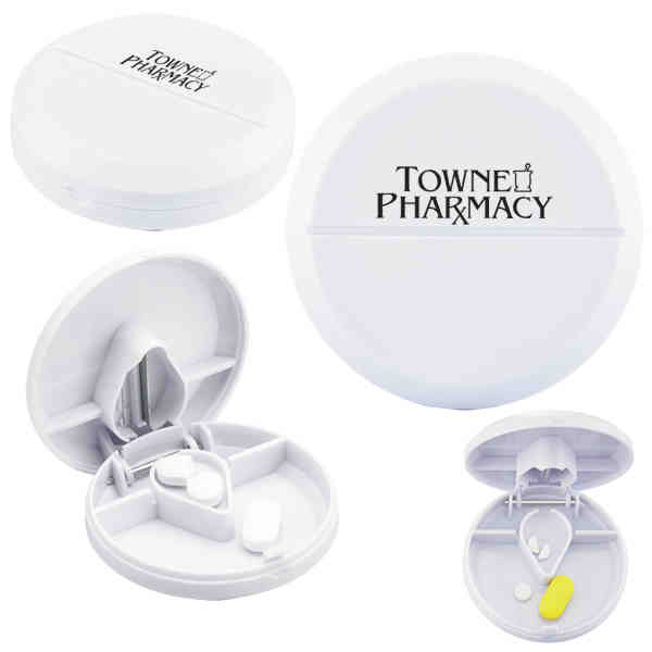 Compact pill cutter and