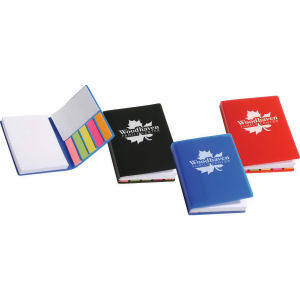 Sticky book with notepad,