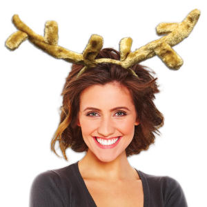 Brown plush reindeer antlers.