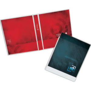 Clear overlay binder that