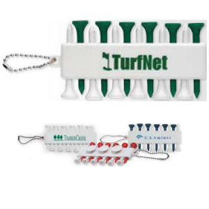 Golf tee set with
