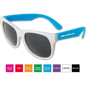 Sunglasses with white frames