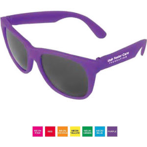 Vibrant colored sunglasses with