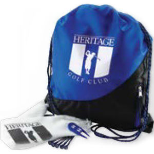 Golf kit includes backsack,