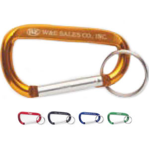 Carabiner with split key