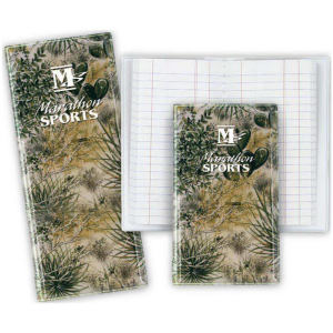 Tally book with camouflage