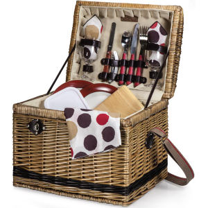 Willow basket with deluxe
