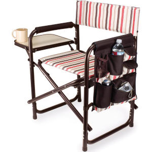 Folding chair with fold-out