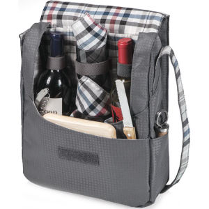 Insulated two-bottle wine tote/cooler