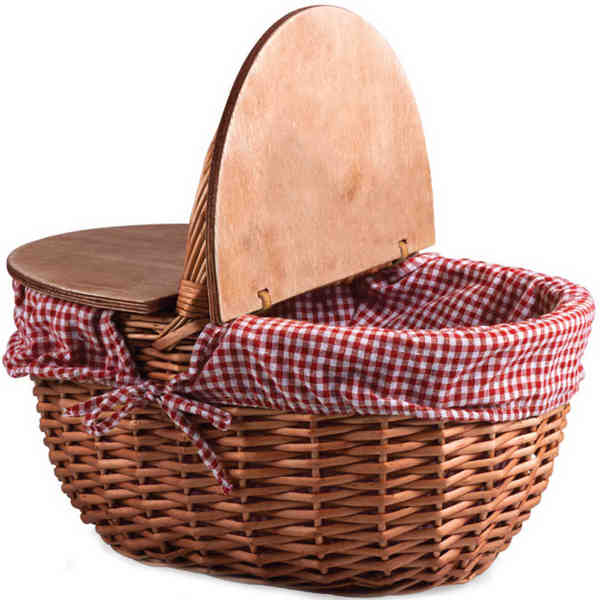 Willow picnic basket with