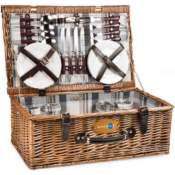 English-style basket with deluxe