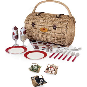 Barrel-shaped basket with deluxe