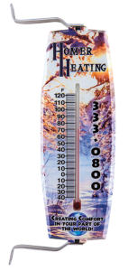Full color outdoor/indoor thermometer