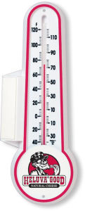 Indoor or outdoor thermometer