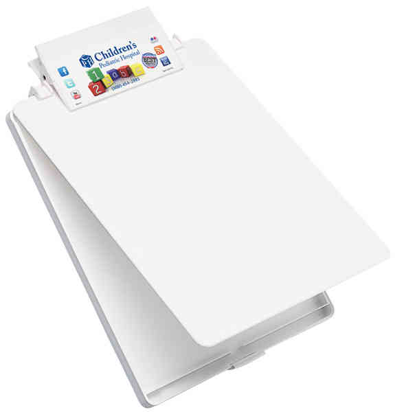 Letter-size clipboard with tray,